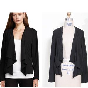 EILEEN FISHER 100% silk drape jacket. Size L.